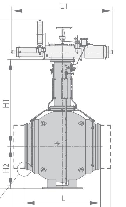 Шаровой кран 11лс(6)762р8