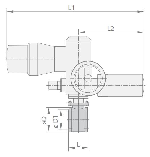 Кран шаровой МА 39010-07 Ду 80