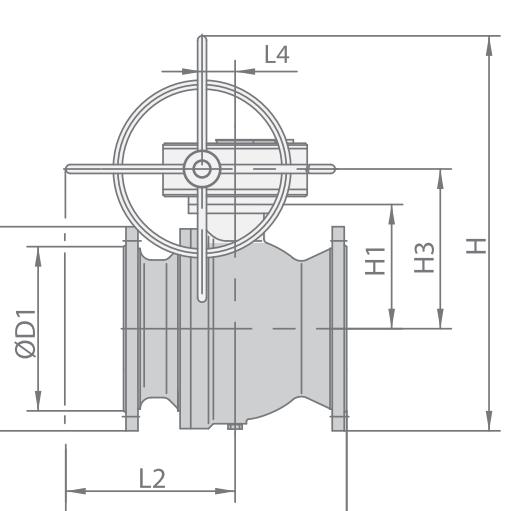 Кран шаровой МА 39010-01 Ду 300