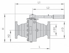 Кран шаровой МА 39034-03
