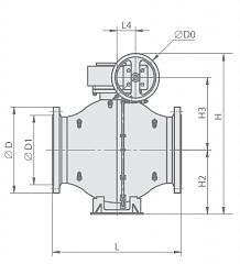 Кран шаровой МА 39010-080-02